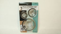 72 Units of 3 Piece Mesh Strainer Set - Strainers & Funnels