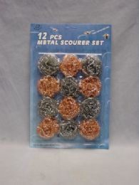 72 Units of 12 Piece Metal Scourer Set - Cleaning Products