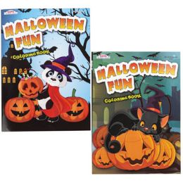 96 Units of 2asst Halloween Coloring Book In Floor Display - Coloring & Activity Books