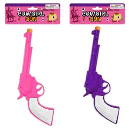 48 Units of 12in Cowgirl Gun W/click Sound - Toy Weapons