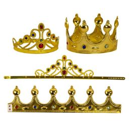 24 Units of Crown Or Tiara W/gem - Costumes & Accessories