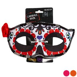 36 Units of Day Of The Dead Carnivale Mask - Costumes & Accessories
