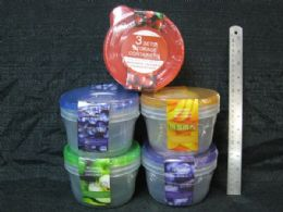 36 Units of 3 Piece Resuable Container - Food Storage Containers