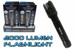 6 Units of 2000 Lumen Tactical Flashlight - Flash Lights