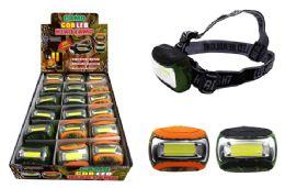 18 Units of COB LED CAMO HEAD LAMP ULTRA BRIGHT - Flash Lights