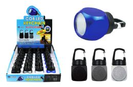 24 Units of COB LED CUBE KEYCHAIN WITH CARABINER CLIP ULTRA BRIGHT - Flash Lights
