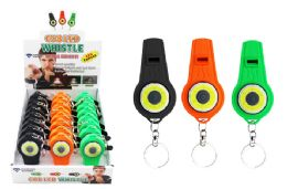 24 Units of Cob Led Whistle Keychain Ultra Bright - Flash Lights
