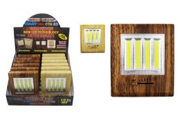 12 Units of COB LED WOOD GRAIN DUAL LIGHT SWITCH ULTRA BRIGHT - Lamps and Lanterns