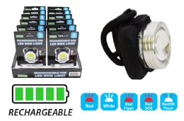 12 Units of RECHARGEABLE COB LED BIKE LIGHT ULTRA BRIGHT - Lamps and Lanterns