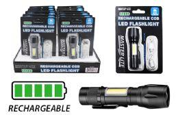 12 Units of RECHARGEABLE COB LED MINI TACTICAL FLASHLIGHT ULTRA BRIGHT - Flash Lights