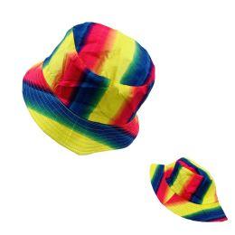 24 Units of Bucket Hat [Rainbow] - Bucket Hats