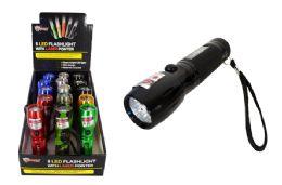 15 Units of 8 LED FLASHLIGHT WITH LASER - Flash Lights