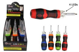 15 Units of 5 In 1 Led Screwdriver - Screwdrivers and Sets