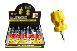 20 Units of 7 In 1 Mini Screwdriver And Bits - Screwdrivers and Sets