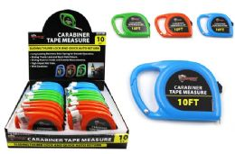 24 Units of Carabiner Tape Measure - Tape Measures and Measuring Tools