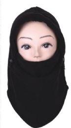 72 Units of Unisex Fleece Face Masks Black Color Only - Unisex Ski Masks