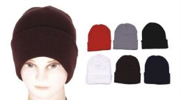 72 Units of Unisex Assorted Color Beanie Hats - Winter Beanie Hats