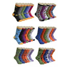 360 Units of Women's Insect Print Crew Socks - Womens Crew Sock
