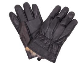 72 Units of Men's Black Leather Winter Glove - Leather Gloves