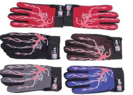 72 Units of Unisex Athletes Gloves In Assorted Colors - Winter Gloves