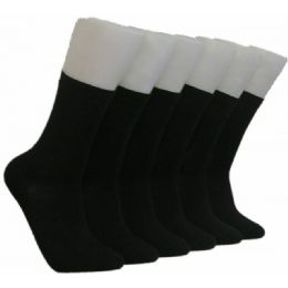 360 Units of Women's Solid Black Crew Socks - Womens Crew Sock