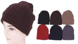 72 Units of Unisex Cotton Beanie Hats - Winter Gloves