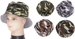 72 Units of Men's Camouflage Bucket Hat - Bucket Hats