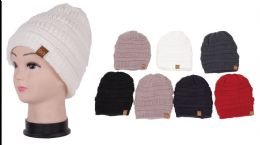 72 Units of Unisex Winter Beanie Hat With Velvet Liner - Bucket Hats