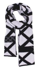 72 Units of Men's Striped Winter Scarf - Winter Scarves