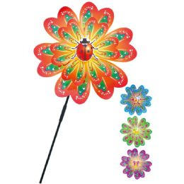 "48 Units of 30"" Wind Mill - Assorted Colors - Garden Decor"