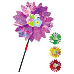 "48 Units of 19"" Wind Mill - Assorted Colors - Garden Decor"