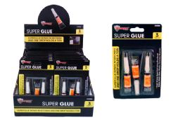 60 Units of SUPER GLUE (3 PC) - Glue Office and School