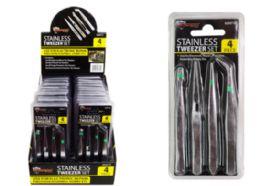 48 Units of Tweezer set 4 Pieces - Tool Sets