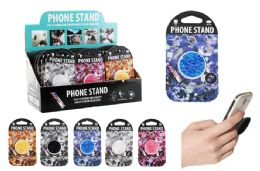 48 Units of COLLAPSIBLE PHONE GRIP RHINESTONE - Cell Phone Accessories