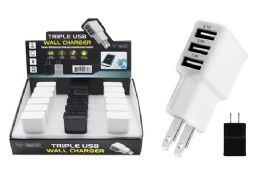 18 Units of TRIPLE USB WALL CHARGER - Chargers & Adapters