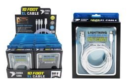 18 Units of 10 Foot Xl Phone Cables At Apple - Cell Phone Accessories
