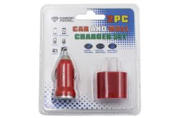 12 Units of 2 PIECE USB WALL AND CAR CHARGER SET - Chargers & Adapters