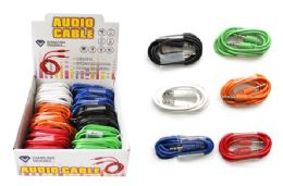 36 Units of AUXILIARY AUDIO CABLE - Cables and Wires