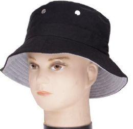 48 Units of Men's Black Bucket Hat - Bucket Hats