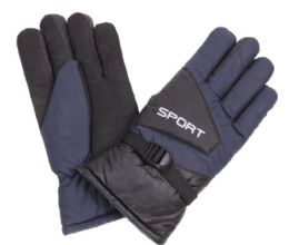 72 Units of Men's Ski Glove With Velcro Strap - Ski Gloves