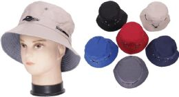 72 Units of Men's Plain Assorted Color Bucket Hat - Ski Gloves