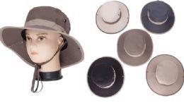 72 Units of Men's Large Brim Fishing Hat - Fedoras, Driver Caps & Visor
