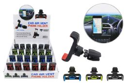 24 Units of CAR AIR VENT PHONE HOLDER WITH BALL JOINT - Cell Phone Accessories