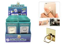 24 Units of CELL PHONE RING 3 IN 1 FUNCTIONALITY ASSORTED COLORS - Cell Phone Accessories