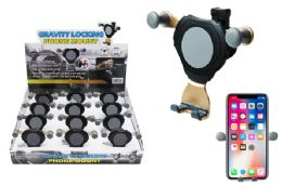 12 Units of GRAVITY LOCKING CAR AIR VENT PHONE MOUNT - Cell Phone Accessories