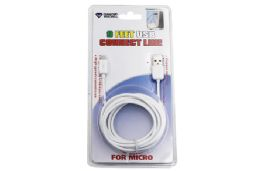 24 Units of MICRO USB CABLE EXTRA LONG CABLE CARDED - Cables and Wires