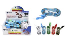 36 Units of NYLON MICRO USB CABLE 3 INCH - Cables and Wires