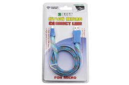 36 Units of NYLON MICRO USB CABLE CARDED - Cables and Wires