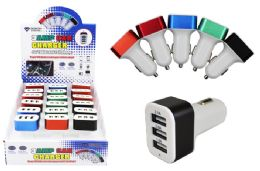 18 Units of TRIPLE USB CAR CHARGER - Chargers & Adapters