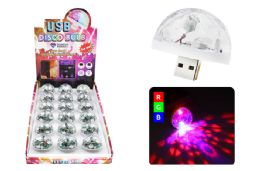 36 Units of Usb Disco Bulb 3 Leds Sound Activated - LED Party Supplies